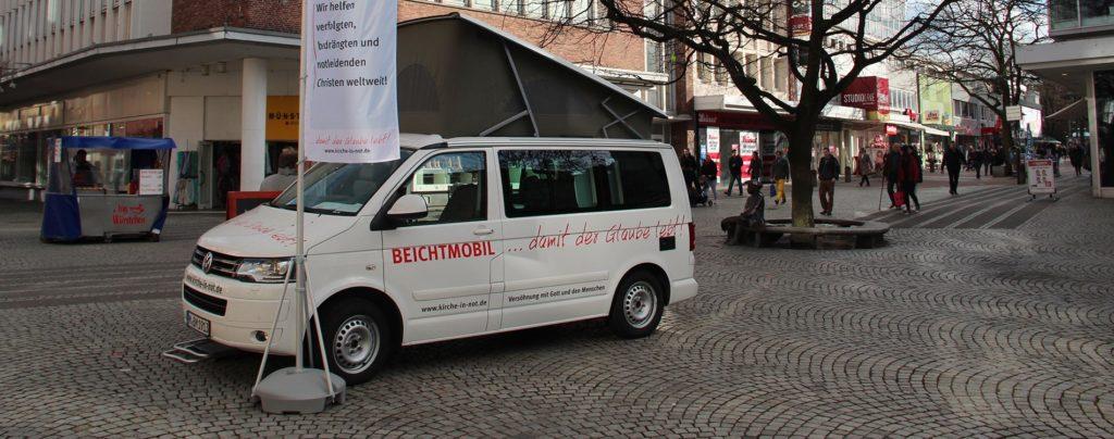 Das Beichtmobil in Regensburg und Bamberg