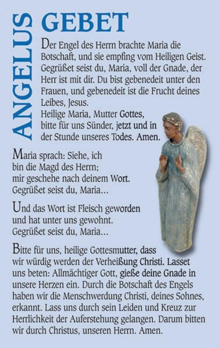 "Gebetskarte <br>""Angelusgebet"""