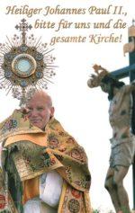 Gebetskarte <br> Gebet von Johannes Paul II.