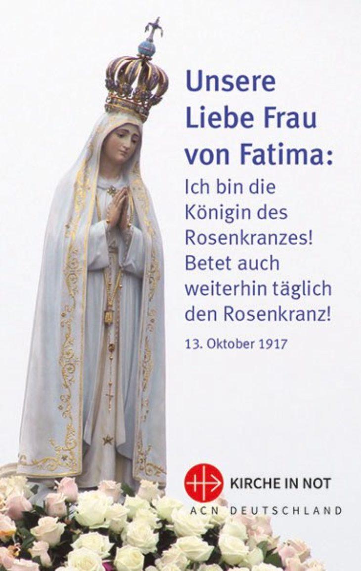 """Gebetskarte: <br>""""Fatima-Jubiläumskarte"""""""