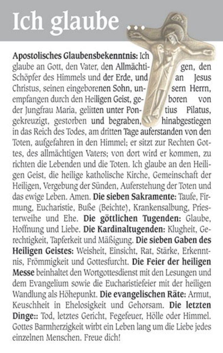 """Gebetskarte <br>""""Glaubenskarte"""""""