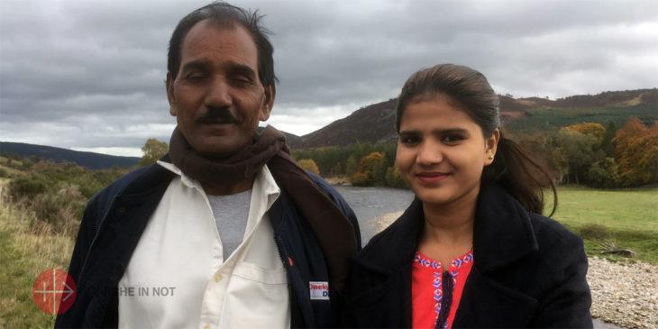 Ehemann und Tochter von Asia Bibi.