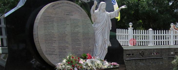 Gedenkstätte für die Anschlagsopfer in Negombo.