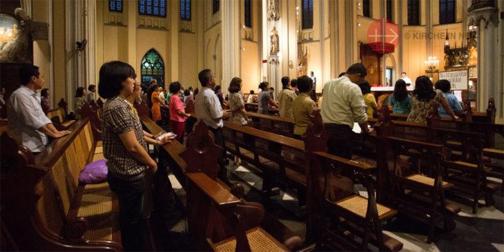 Gottesdienst in der Kathedrale in Jakarta (Foto: KIRCHE IN NOT/Magdalena Wolnik).