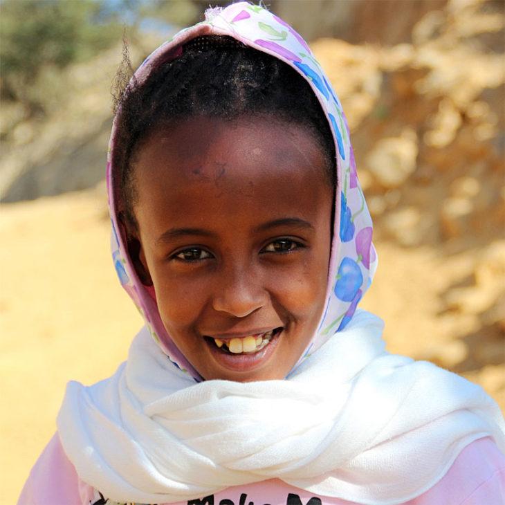 Mädchen aus Eritrea.