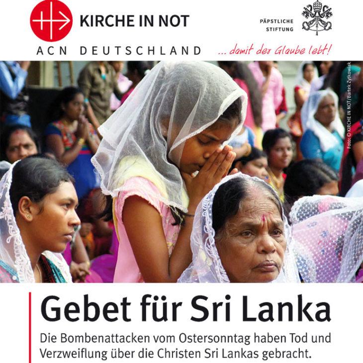 Gebet für Sri Lanka, Format A7