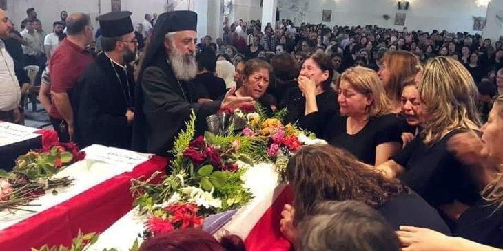 Trauer in Syrien: Angehörige der Opfer des Angriffs auf die griechisch-orthodoxe Gemeinde.