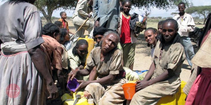 Verteilung von Hilfsgütern in Eritrea.