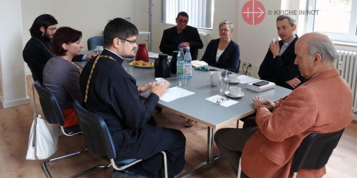 Gesprächsrunde mit Vertretern der russische-orthodoxen Kirche und KIRCHE IN NOT in Königstein im Taunus.