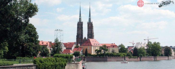 Blick auf Breslau.