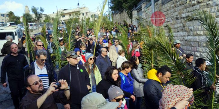 Palmsonntag-Prozession in Jerusalem.