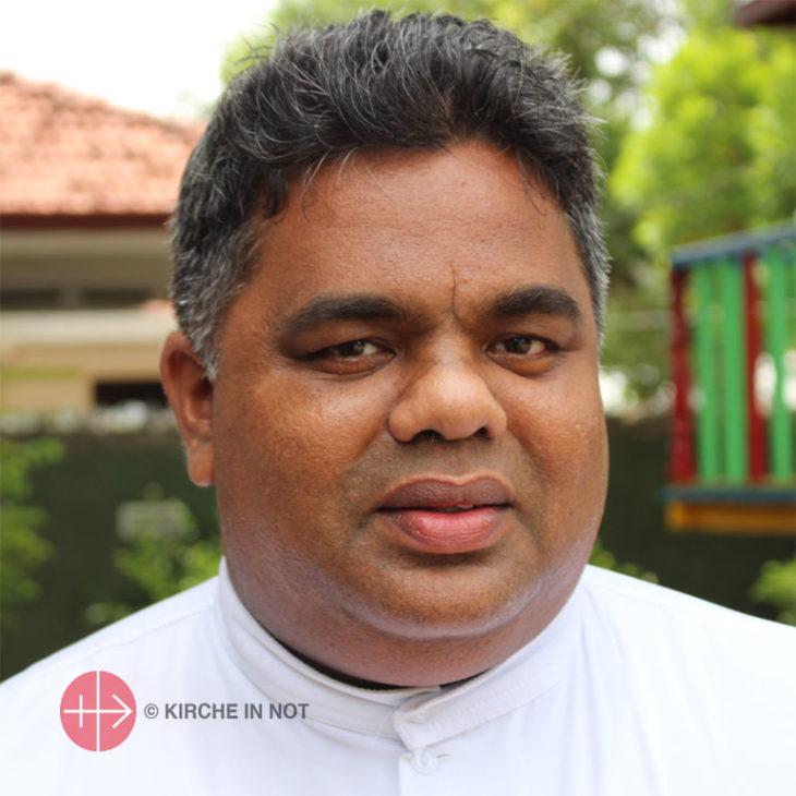 Prasad Harshan, Priester aus Sri Lanka.