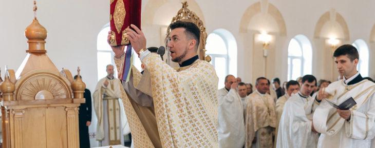 Gottesdienst in der Diözese Iwano-Frankiwsk.