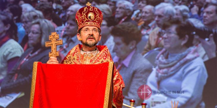 Weihbischof Bohdan Dsjurach aus Kiew feierte 2015 auf dem Kongress von KIRCHE IN NOT Deutschland einen Gottesdienst.