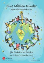 """Faltblatt zur Aktion - """"Eine Million Kinder beten den Rosenkranz"""" 2019"""