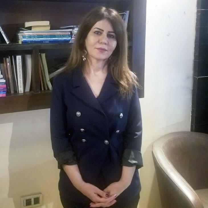 Professorin Muna Yako, christliche Aktivistin und Rechtsexpertin aus dem Irak.