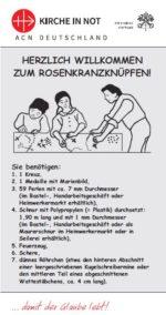 Anleitung zum Rosenkranzknüpfen
