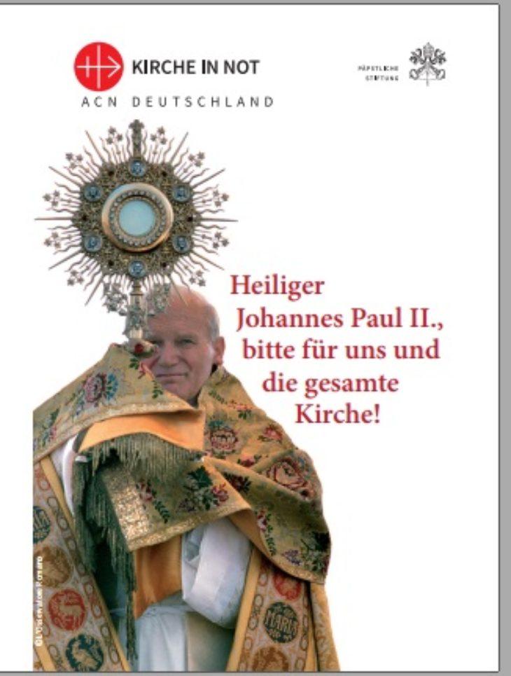 Faltkalender 2020: Heiliger Johannes Paul II.