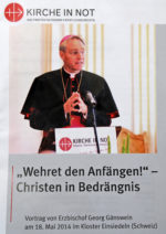Wehret den Anfängen! (Vortrag von Erzbischof Georg Gänswein)