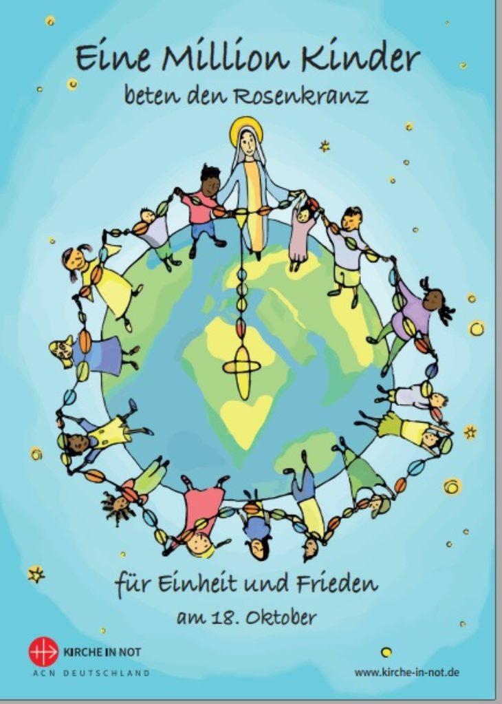 """Faltblatt zur Aktion - <br/> """"Eine Million Kinder beten den Rosenkranz"""" 2021 - <br/>zum Download"""