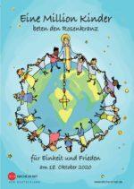 """Faltblatt zur Aktion - <br/>""""Eine Million Kinder <br/>beten den Rosenkranz"""" 2020"""