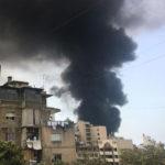 Hilfe für Überlebende der Explosion