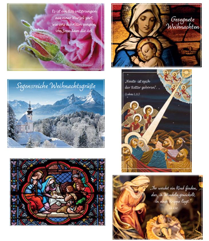 Christliche Weihnachtskarten im Set 2021