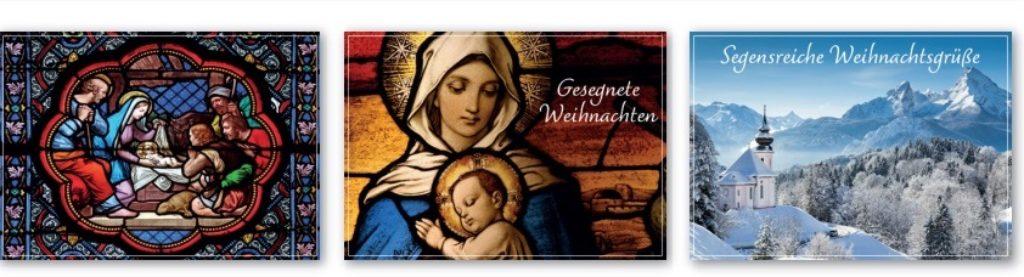 Versenden Sie Ihre Weihnachtsgrüße mit christlichen Motiven