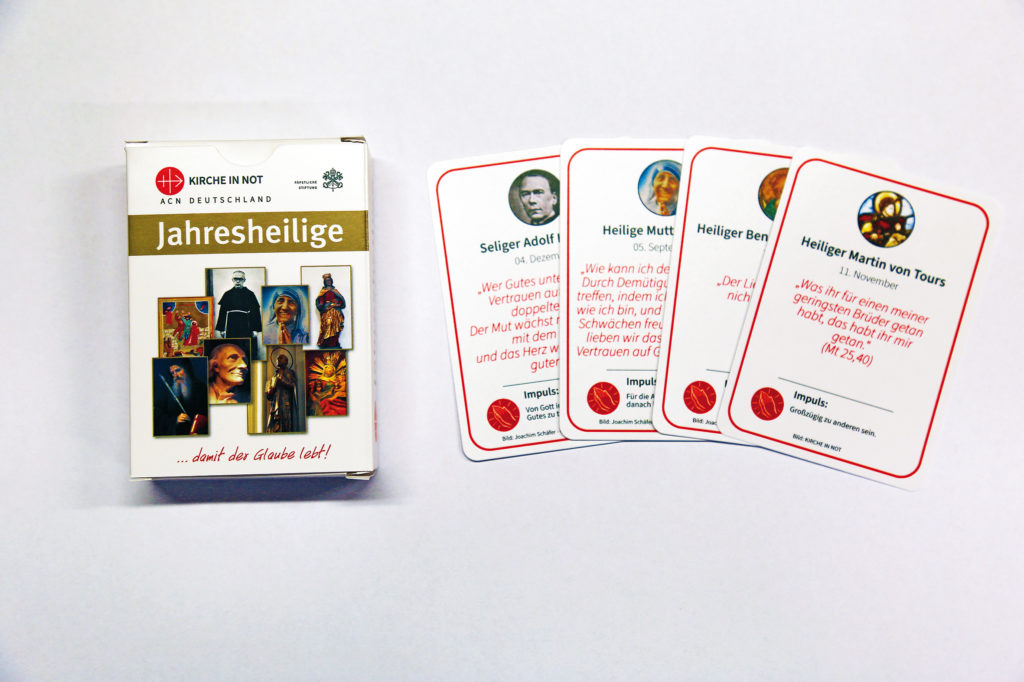 Neu: Jahresheiligen-Ziehen als Karten-Set