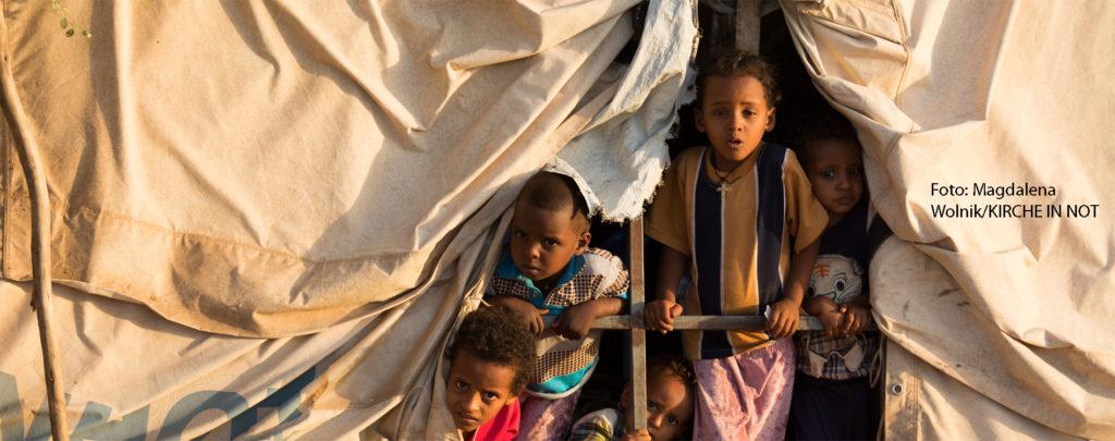 Unterstützen Sie die Arbeit der Kirche für vertriebene Menschen in Afrika