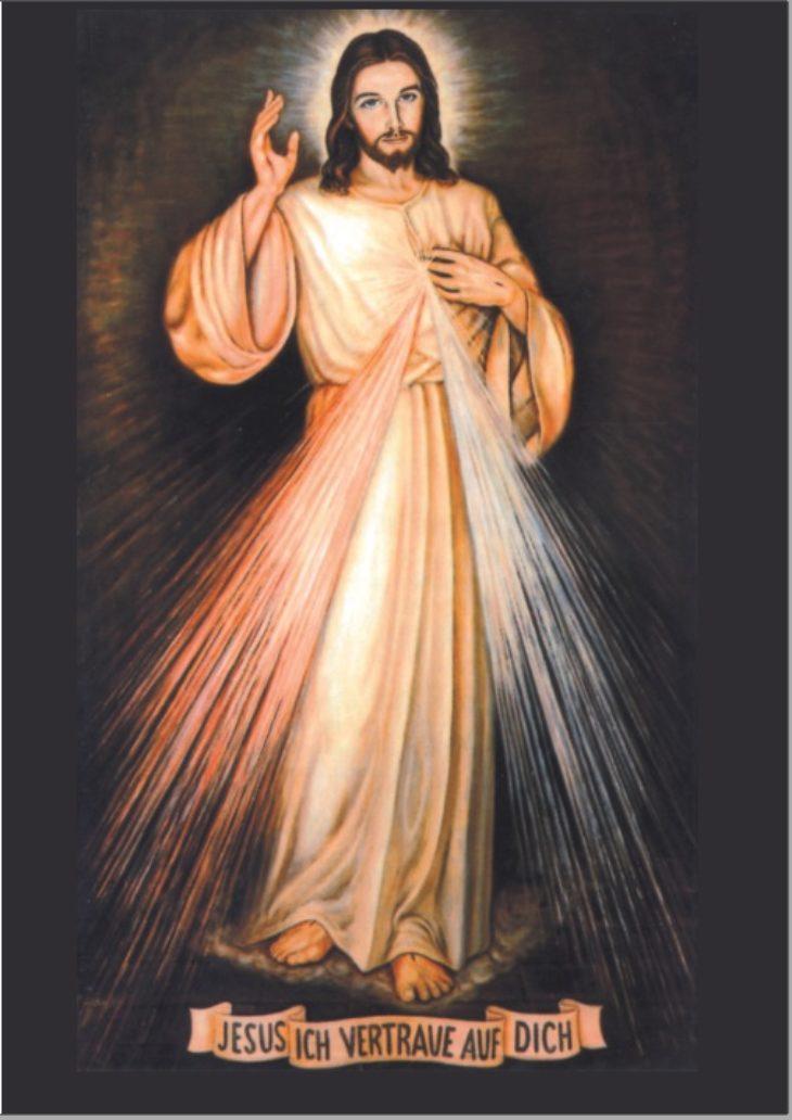 "Faltblatt ""Barmherziger Jesus""  - A6 - 50 Exemplare"