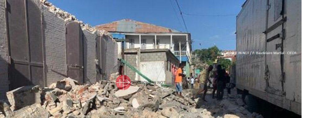 Haiti: KIRCHE IN NOT leistet Soforthilfe nach Erdbeben