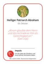 Jahresheilige - Einzelkarte: Abraham