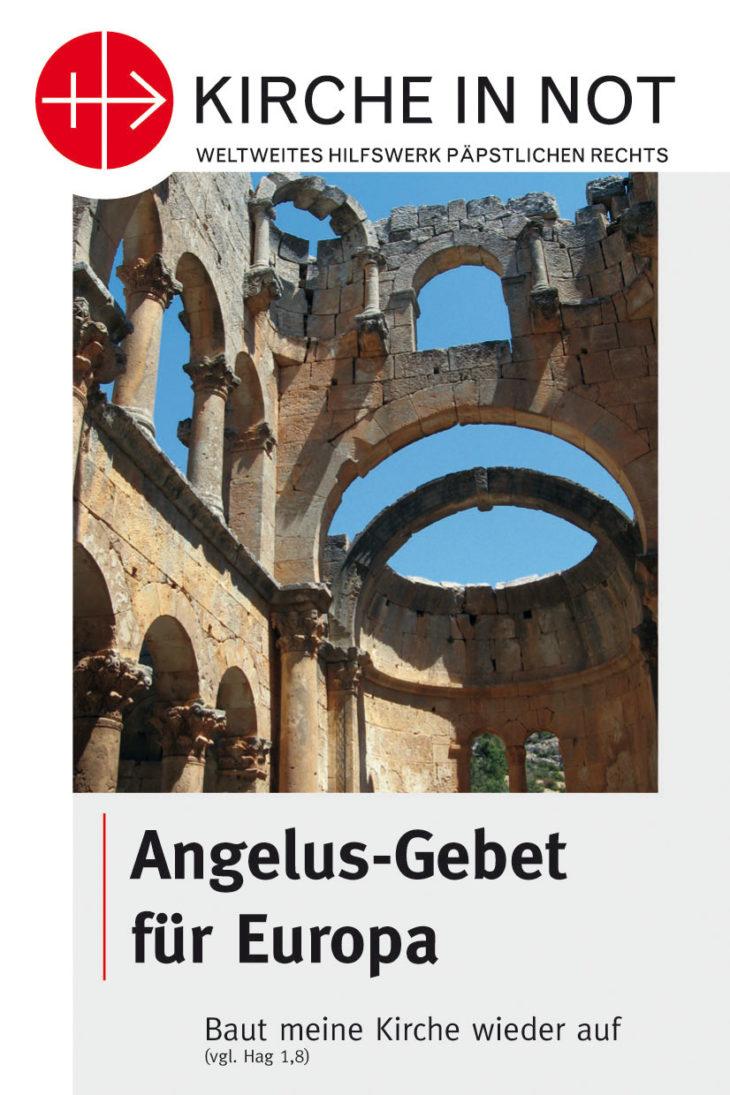 Faltblatt <br/>Angelusgebet für Europa