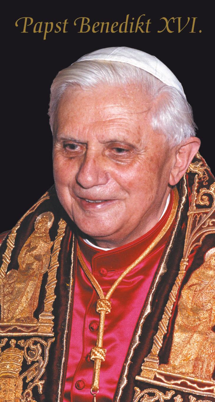Gebetsbild: Papst Benedikt