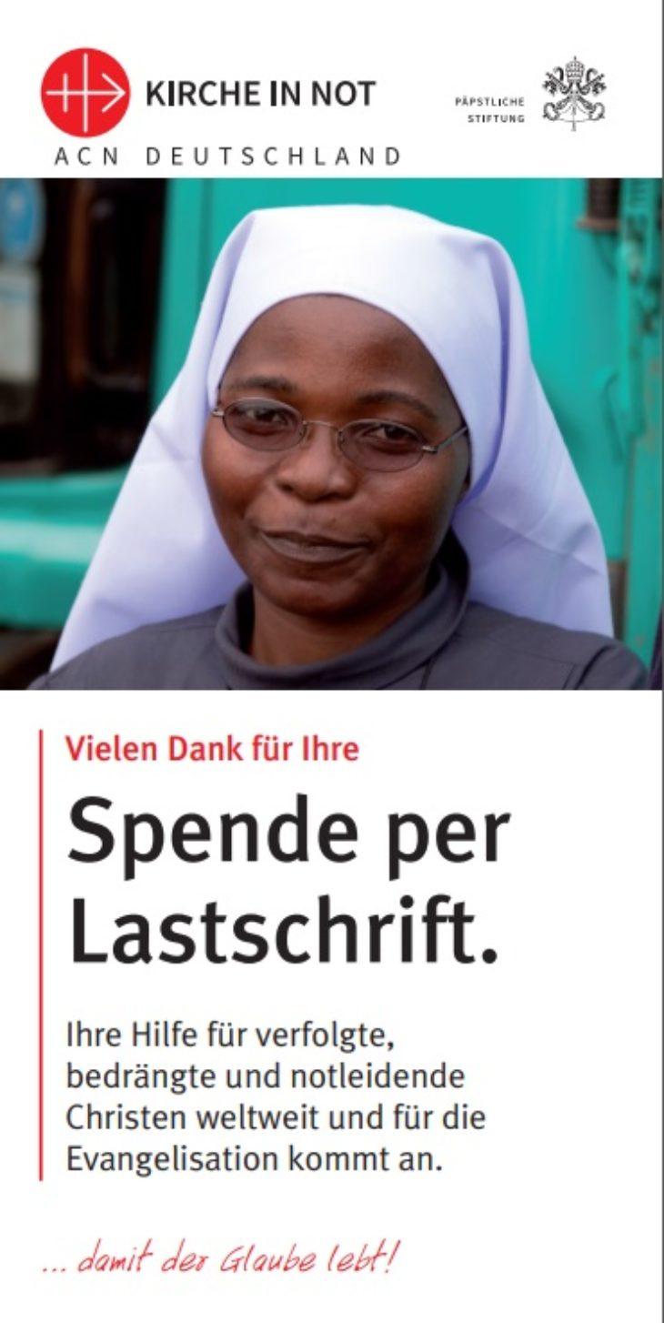 Flyer Spende per Lastschrift